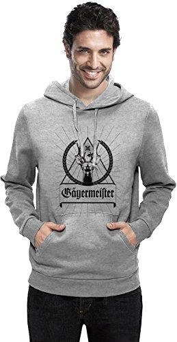 Jagermeister Black Logo Mens Hoodie Small
