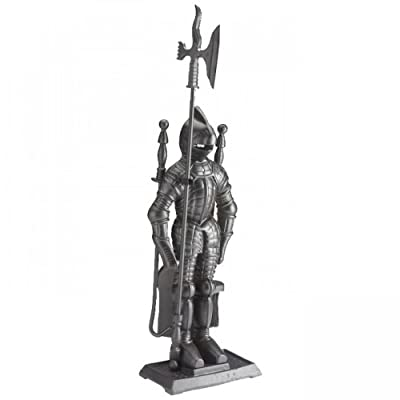 "Inglenook 28.5"" Black Soldier 5 Piece Companion Set Fireplace Shovel Accessories"