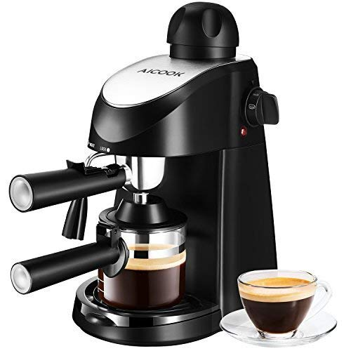 AICOOK Espresso and Coffee Machine, 3 in 1 Combination 15 Bar Espresso Machine and Single Serve Coffee Maker