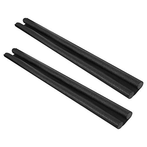 Hengda 2 x Zugluftstopper Für Türen, Türdichtung für Wetterfest, insektensicher und schalldicht, Schwarz doppelseitige