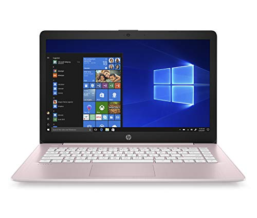 "HP 14-ds0016nl Stream Notebook, AMD Dual-Core A4-9120e, RAM 4 GB DDR4, eMMC 64 GB, Windows 10 Home S, Schermo 14"" HD SVA Antiriflesso, Office 365 Incluso 1 Anno, USB, HDMI, RJ45, Webcam, Rosa"