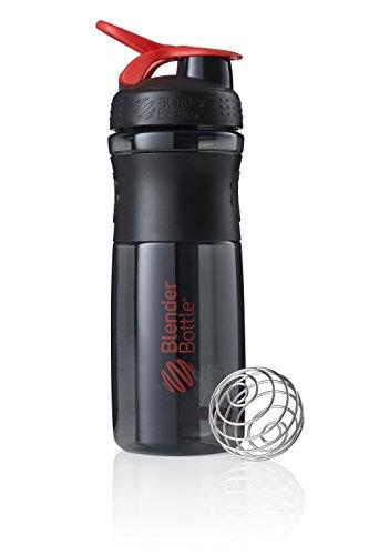 BlenderBottle Sportmixer Tritan Trinkflasche mit BlenderBall, geeignet als Protein Shaker, Eiweißshaker, Wasserflasche oder für Fitness Shakes, BPA frei, skaliert bis 760 ml, 820 ml, rot / schwarz