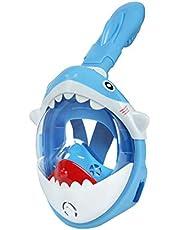 Glymnis Máscara de Buceo para Niños 180° Máscara Snorkel Anti-Fuga Gafas Cara Completa Linda Forma con Agente Antivaho Tamaño Universal para Todos Niños