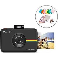 Polaroid Snap Touch 2.0 - Cámara digital portátil instantánea de 13 Mp, Bluetooth, pantalla táctil LCD, tecnología Zink sin tinta y nueva aplicación, copias adhesivas de 5 x 7.6 cm, negro