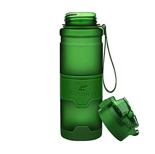 Botellas de Agua Deportivas 0.4-11L ProteínaViaje al Aire Libre Portátil a Prueba de Fugas TritanCapacidad Botella de Bebida Sin BPA 12 Colores - 0.7L, Verde
