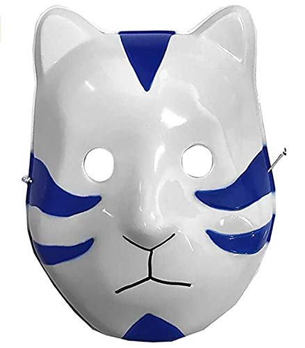 Halloween Party Props Naruto Kakashi Anbe Fox Cosplay Mask Anime Personaggio dei Cartoni Animati,Blu
