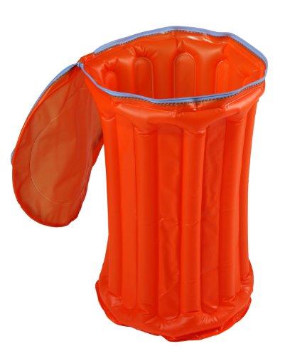 ARTRA Blow Up große Ordnungsbox und Behälter Wäschesammler Neonfarben Kühltasche Party Partykühlung Partykühler Sommer Strand Getränke Aufbewhrungsbox orange