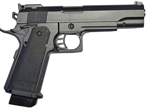 Nerd Clear Softair-Pistole Vollmetall G6 schwere Federdruck Spielzeug-Waffe max. 0,5 J im Set mit 6 mm BB Airsoft Munition