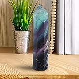 Liyeehao Cristallo di Fluorite, Pietra di Fluorite Regalo al Quarzo, Linee uniche squisite per Gli Amici della Famiglia(60mm-65mm)
