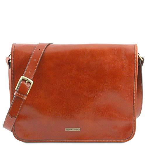 Tuscany Leather TL Messenger Borsa a tracolla 2 scomparti - Misura grande Miele