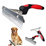 Dog Brushes for Grooming Large Dogs, Long Hair Dog Rake Pet Comb Pet...