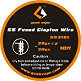 Geekvape Wickeldraht Fused Clapton SS316L A1 28GA*2/30GA