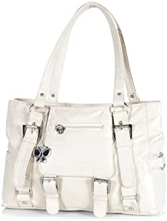 Butterflies Women's Handbag (Cream) (BNS 0355 CRM)