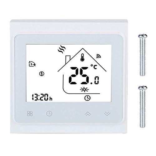 GNLIAN HUAHUA Controlador de Temperatura Termostato Inteligente WiFi, Pantalla táctil LCD WiFi Controlador de Temperatura del termostato Inteligente para el calefacción del Piso del Agua