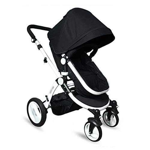 Learn More About Baby Trolley High Landscape Stroller Bed Absorber Reclining Can Sit Four-Wheeled Fo...