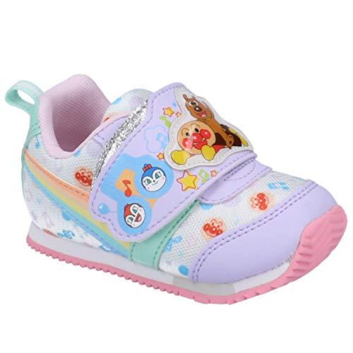 [ムーンスター] アンパンマン ベビー・キッズ スニーカー APM B30 2E マジックテープ ベルクロ ドキンちゃん バイキンマン かわいい 幼児 子供 男の子 女の子 靴 パープル 13.5cm