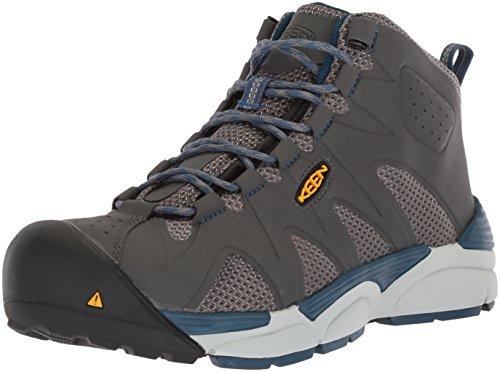 KEEN Utility Men's San Antonio Industrial Shoe, Gargoyle/Blue Opal, 12 D US