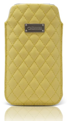 Krusell 95394 Avenyn L-Long Mobile Stylish Pocket Pouch for iPhone 5/5S/5C - Yellow