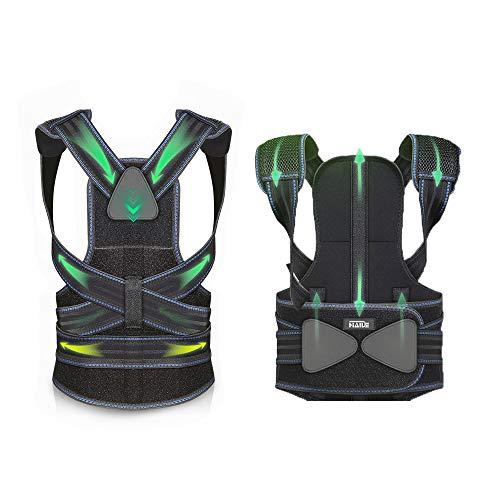Back Brace Posture Corrector | Adjustable Aluminum Bracket That Best fits Human biomechanics | Improve Bad Slouching Problems for Scoliosis and Back Pain| Men Women Girl Boy