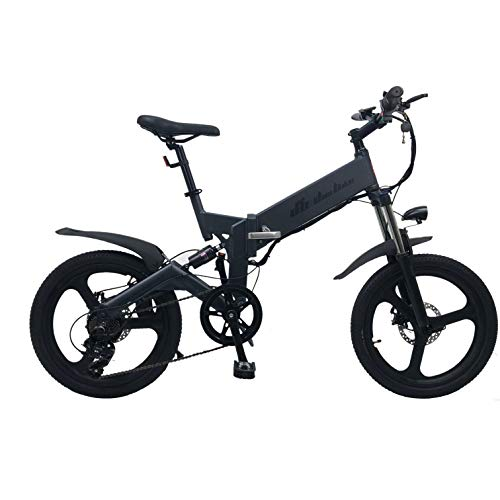 DAS.BIKE DB-20080 ANTHRAZIT 20 Zoll ALU E-Bike Faltbike Faltfahrrad Citycruser