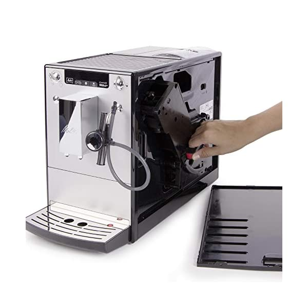Melitta 6768761 Tubo lanzador de leche para cafeteras automáticas, Acero