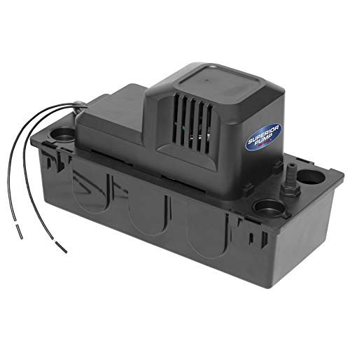 Superior Pump 97202 Condensate Pump, 1/30 HP, Black