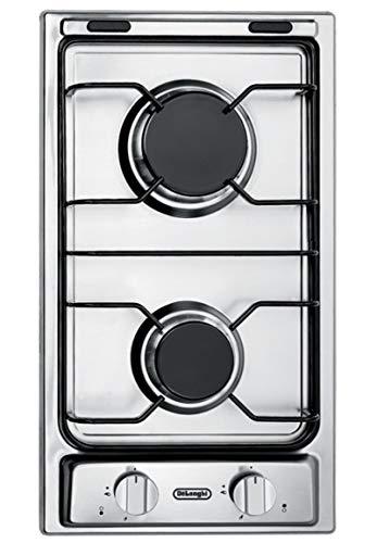 Placa de cocción 2 quemadores Domino a gas de 30 cm De'Longhi I 23-2 ASV