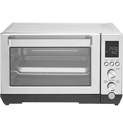 GE Quartz Convection Toaster Oven, Large Capacity Fits 9x11 Baking Pan, Rapid Quartz Heating Element, 7 Cook Modes of Toast, Bake, Broil, Bagel, Pizza, Roast & Keep Warm, Stainless Steel, G9OCABSSPSS