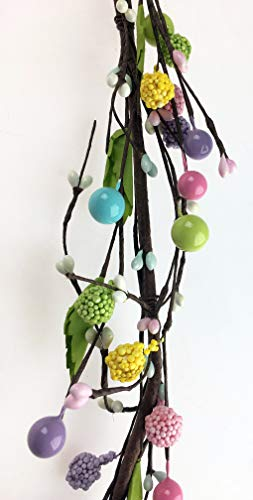Fun Machine Artificial Spring Berry Garland x 5ft Wired Easter Wedding Home Decor Trail