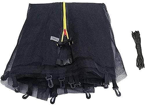 WXking Red de seguridad para cama elástica compatible con marcos redondos para marcos redondos, color negro (color: 1,2) (color: 1,2)