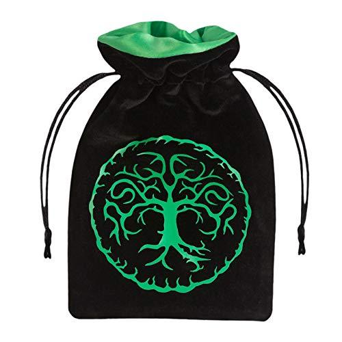 Qworkshop Foresta Nero & Verde Velour Dice Bag