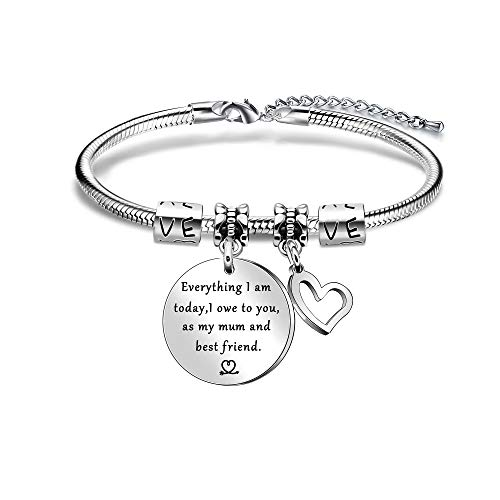Mum Gift,Silver Bracelet for Women Lady,Mothers Day Gift from Daughter Son,Mother Bracelet,Thanksgiving Gift for Mum