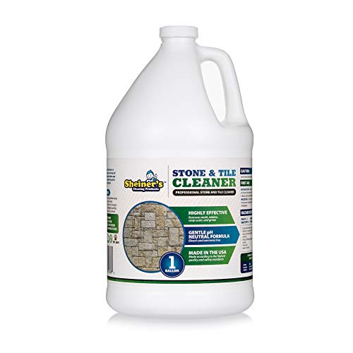 Stone and Tile Cleaner, Ready-to-Use Multipurpose Cleaner for Garage Floor Tiles, Polished Stones, Granite Stone, Marble Tile, Slate Tile, and More Concrete Surfaces, 1 Gallon - Sheiner's