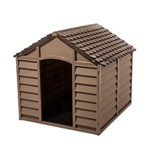 Starplast Small Dog House/Kennel, Mocha/Brown