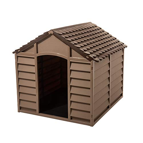Starplast Mocha/Brown Large Dog House/Kennel