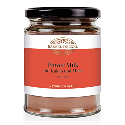BÄRBEL DREXEL® Power Milk Pulver mit Kakao und Maca (120g) 100% Vegane Herstellung Deutschland Superfood-Trinkpulver Für Mehr Energie, Maca-Wurzel Zimt