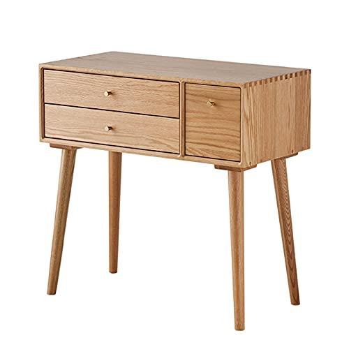 Dressing table Directry con 3 cassetti, moderno tavolino da scrivania da banco di trucco per l'home office, scrivania di studio semplice scrivania con stoccaggio Vanity toeletta ( Size : 78cm )