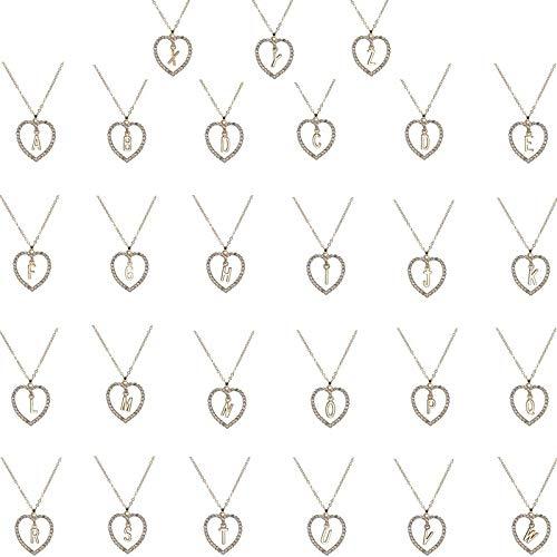 YMKXXB Collar Simple Color Oro Amor Corazón Collares Y Colgantes Doble Rhinestone Gargantilla Collar Mujeres Declaración JoyeríaR