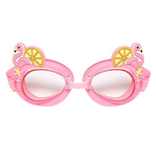 水泳用ゴーグル 子供の水泳ゴーグル防水防水水泳ガラス&シリコーンフレーム - 子供用 泳ぐ (Color : Pink Swan)
