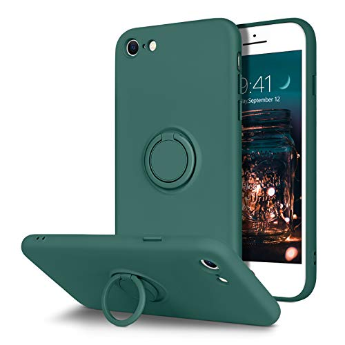 BENTOBEN iPhone 6S Case, iPhone 6 Case, Slim Silicone | 360° Ring Holder Kickstand | Support Car Mount | Soft Rubber Shockproof Bumper Protective Cases for iPhone 6S / iPhone 6 4.7', Midnight Green