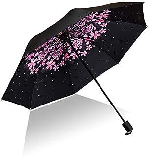 Creativo pétalo estrellado hombres mujeres pequeño sol lluvia paraguas protección a prueba de viento compacto viajes al ai...