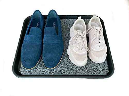 Shoe Cleaning Tray and Mat for Virus and Disease Prevention and Free Shoe Drying matt