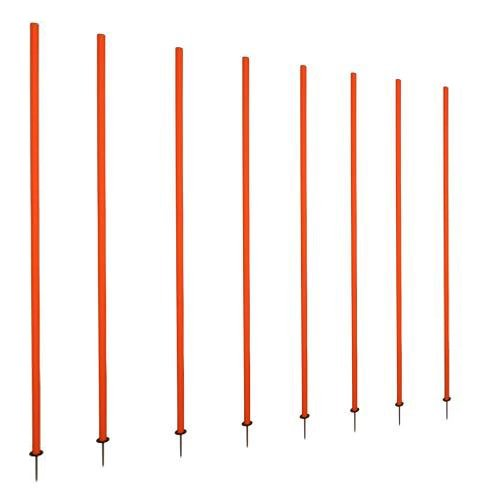 Cougar Spring Loaded Slalom Poles 5' Agility Speed Multi Sport Training (Set of 8 Poles)