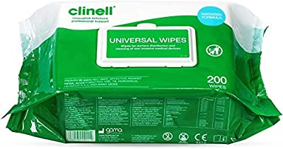CLINELL Universal Wipes Pack 200 by GAMMA