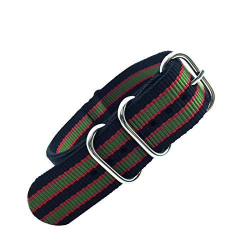 Home CNLXDSB Correa Colorida Arco Iris 18mm 20 mm 22mm 24mm Military Strap Strap Tela Tela de Nylon Cinturón Hebilla (Band Color : Colorful 8, Band Width : 24mm)