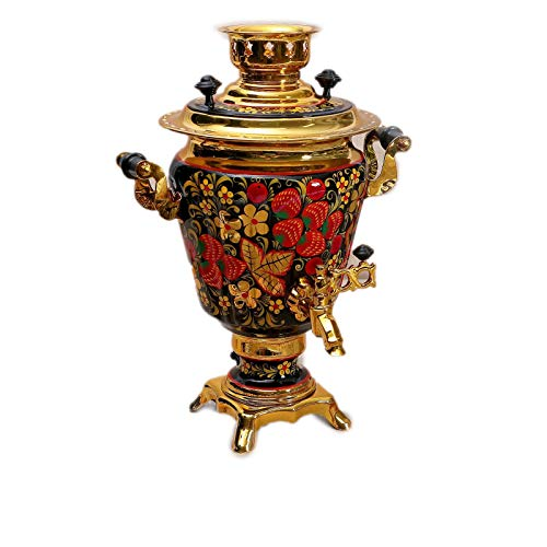 "Electric Samovar ""Khokhloma"" Traditional Russian Tea Maker"