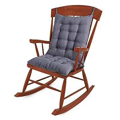 Tiita Rocking Chair Cushion Pad Seat: 15.7x15.7x3 Inch Seat Back: 21.6x15.7x3 Inch, Outdoor/Indoor Tufted Seat Cushions, Grey