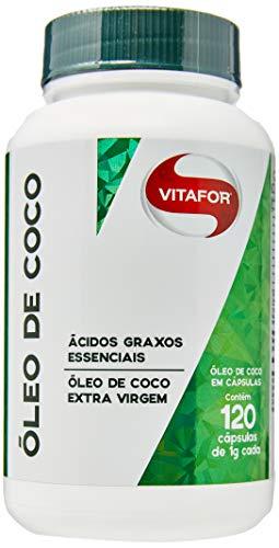 Óleo de Côco Extravirgem - 120 Cápsulas 1g - Vitafor, Vitafor
