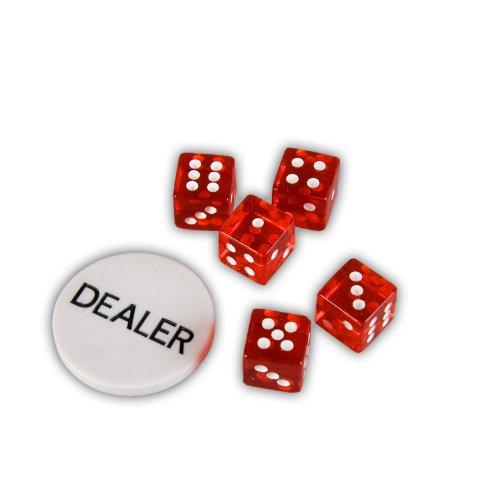 Ultimate Black Edition Pokerset, 300 hochwertige 12 Gramm METALLKERN Laserchips, 100% PLASTIKKARTEN, 2x Pokerdecks, Alu Pokerkoffer, 5x Würfel, 1x Dealer Button, Poker, Set, Pokerchips, Koffer, Jetons - 7