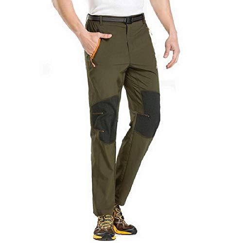 nobrand Stretch wasserdichte Hose Herren Sommer Armeegrün Herren Hosen Schwarz Sweatpants schnell trocknend Khaki Herrenhose Gr. 34-37, Armee-grün